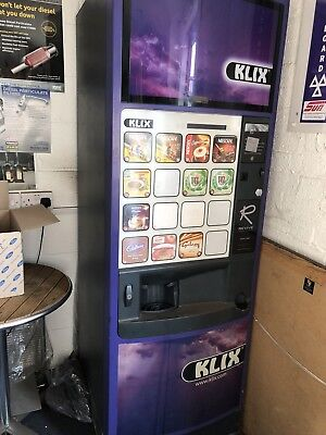 Klix Outlook 16 Vending Machine includes Mei Coin Mech and Key In Working Order