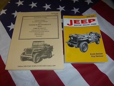 TOP Jeep ( livres BECKER + TM 10.1349 ) WILLYS MB FORD GPW HOTCKISS M 201 US 4X4