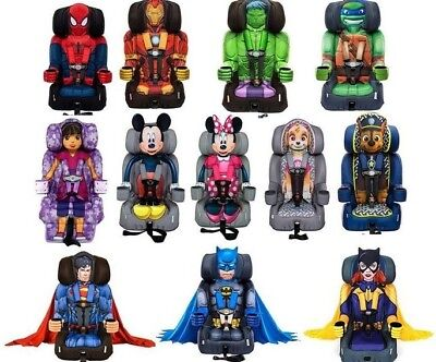 Kids Embrace Car Seat Combination 5 Pt Harness Booster Marvel Disney Characters