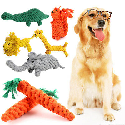 Handmade Pet Dog Cat Puppy Cotton Rope Toys For Vegetables Animals Training Toy