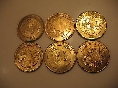 Six Sunoco Millennium Coin Series Coins Great Condition 1999 Nos. 3 5 6 8 9 10