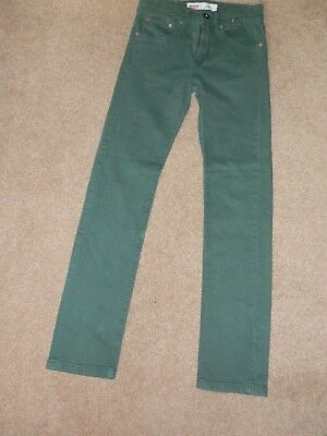 Authentic Levi Strauss Green Cotton Blend Skinny Jeans   Age 11-12 Years