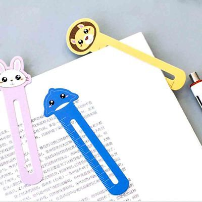 30*Cute Cat Head Paper Bookmark Stationery Bookmarks Book Holder Kids Gift HR5X