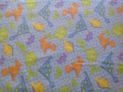 ~ FLANNEL~ Dinosaurs ~ Dino ~ Quilting ~ Fabric~Boys ~ Bright~ Flannelette ~ FQ~