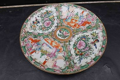 chinese antique 19th century hand painted plate.