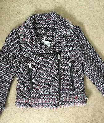 01fef23a Zara Ladies Women's Short Tweed Jacket Navy/Red/Grey XS BNWT RRP £69.99