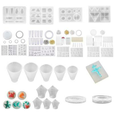 Clear Silicone Earring Bracelet Mold Making Jewelry Resin Casting Mould Tools AU