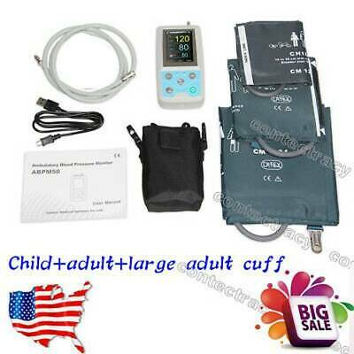 FDA NIBP Monitor 24HOUR Ambulatory BP Holter ABPM50 Software,child,adult,large