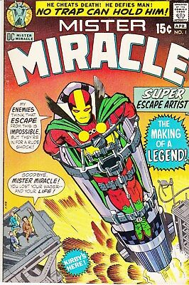 MISTER MIRACLE # 1 Bronze Age Comic Book 1971 DC KIRBY