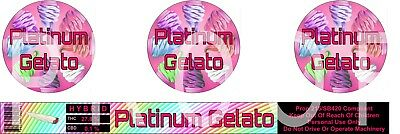 Platinum Gelato Cali Tin Labels (16 Stickers)