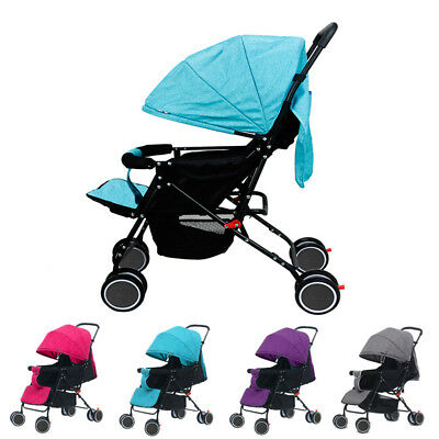 New 4 Foldable Pushchair Newborn Baby Stroller Buggy Carriage Infant Travel Car