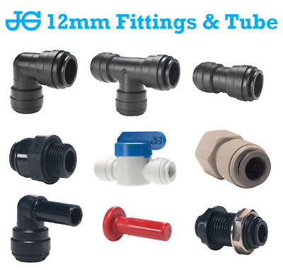 12MM John Guest Push Fit Water Fittings - Caravan / Motorhome / Boat / Camper