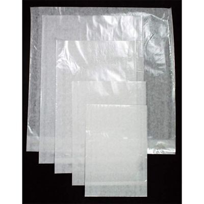 100 x BAGS - CLEAR FACE FILM FRONTED -  WHITE PAPER BACKED  - 5 SIZES AVAILABLE