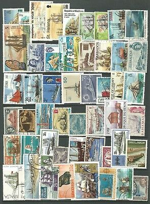 Ship   Themed Stamps Off Paper X 50  -  Good Mix   -  All Different