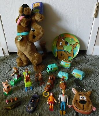 """17 SCOOBY DOO TOY LOT 16"""" PLUSH SNACK COLLECTION MYSTERY MACHINE Cartoon Network"""