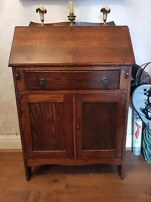 Antique oak Drop Front Bureau C1920