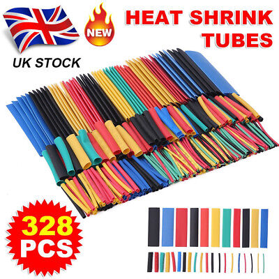328Pc Car Assorted Electrical Cable Heat Shrink Tube Tubing Wire Wrap Sleeve Kit