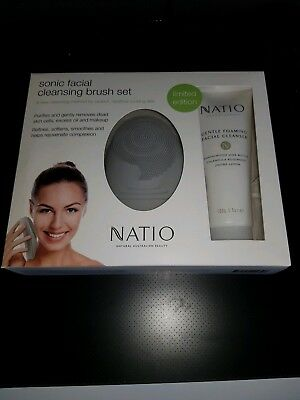 NATIO SONIC skin Cleansing Facial  Brush Set NEW