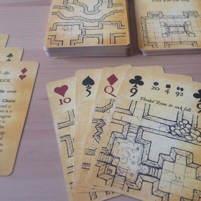 Inked Adventures Map & Dice Playing Cards