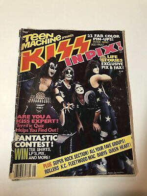 KISS In Pics magazine, Simmons, Stanley, Mego, Aucoin, Rare