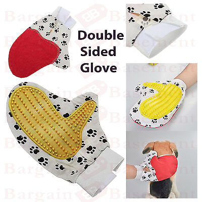 Pet Dog Puppy Cat Kitten GROOMING MASSAGE HAIR GLOVE Mitt Brush -Detangling Comb
