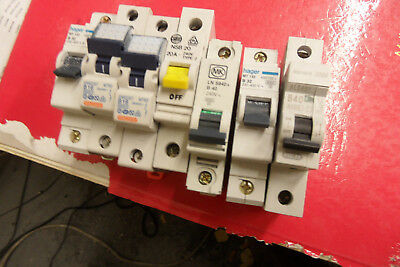 job lot of 7 mcb circuit breakers GW 92205  unused