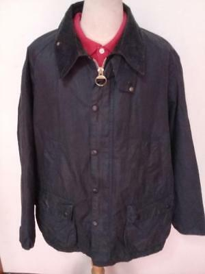 Mens BARBOUR Bedale WAXED Jacket Navy Size 50