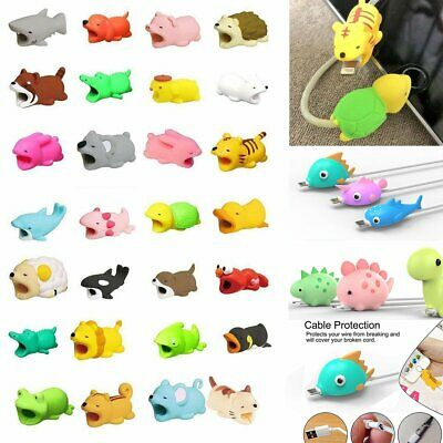 Cable Protector Cute Animal Biting Phone Holder Organizer Model For iPhone Pop