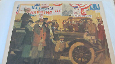 """POSTER~ Humble Oil Great Moments in American History~America's Women VOTE~19x16"""""""