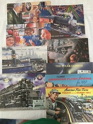 8 Lionel Classic Trains Catalogs. 2001-2005 and 1953 & 1957.