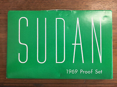 1969 Sudan Proof Set Limited Low Mintage In Its Original Box Uncirculated