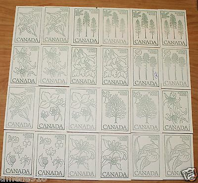 Canada stamp lot of 24 Booklets MNH