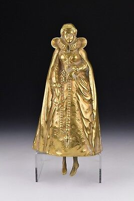 "Antique 19th Century ""Mary Queen of Scots"" Large Gilt Bronze Lady Bell"