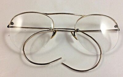 Antique Vintage Shuron Wire Rim Ful-Vue Eye Glasses 1/10 12 k Gold Filled