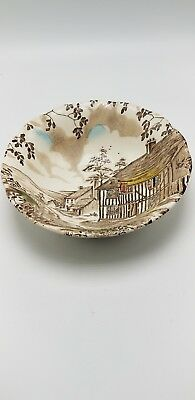 "Dickens ""Coaching Stages"" by W.H. Grindley Staffordshire Bowl 6 3/4"""