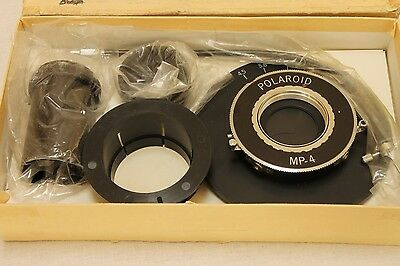 Microscope adapter kit for Polaroid MP-4  with Copal 1 shutter  Mint boxed