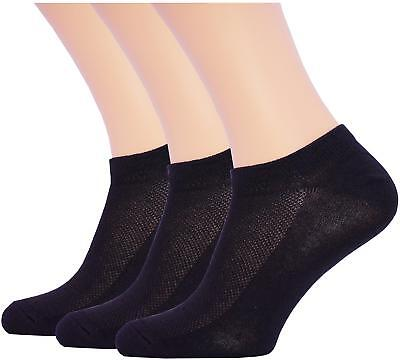 3 Pack Unisex Ultra Thin Breathable Dry Fit Low Cut Running Ankle Socks black