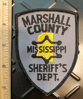Marshall County Co Mississippi Sheriff's Department Police Patch