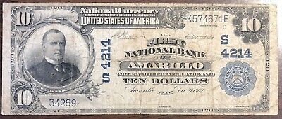 1902 $10 The First National Bank of Amarillo, Texas CH# 4214