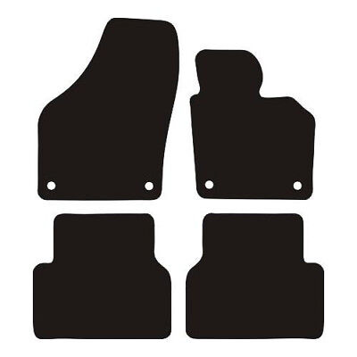 VW Tiguan (2007-2016) Tailored Black Carpet Car Floor Mats with PVC Heel Pad