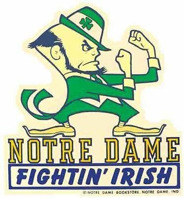 Notre Dame University  Fighting Irish  Vintage Looking  Travel Decal Sticker