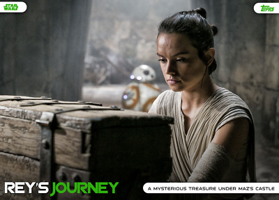 Topps Star Wars Card Trader Reys Journey GREEN Base Arriving on Ahch-To
