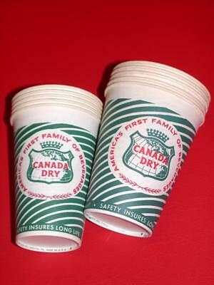 Vintage Lot 10 1950's 1960's Dixie Lily CANADA DRY BEVERAGES SODA CUPS 7oz & 9oz