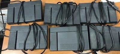 Lot of 6 Olympus Dictation Stenography FOOT PEDALS RS27 Switch w/ cables