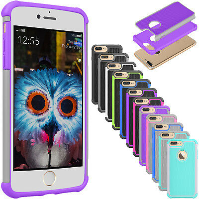 For iPhone 7 Plus/iPhone 8 Plus Hybrid Shockproof Dual Layer Hard New Case Cover