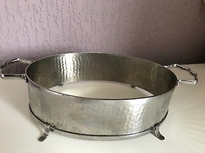Olde Old Hall Retro Mid-Century Stainless Steel Vegetable Dish Stand Holder
