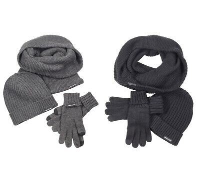 Urban Classics Winter Set Winter Mütze Schal Handschuhe