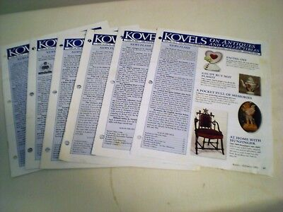 (Lot of 6) Kovels Newsletter on Antiques and Collectibles, (5) 1998, (1) 2001