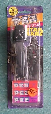 1997 Pez Candy & Dispenser Darth Vader Star Wars In Original Hang Tag W/tape