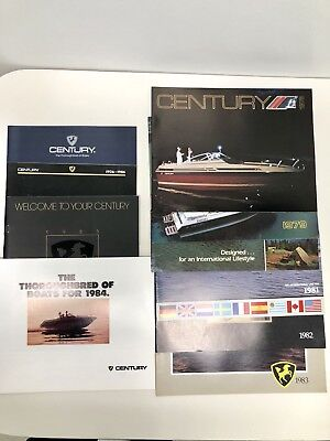 10 CENTURY BOAT~BOATS~1978 thru 1987 ORIGINAL SALES BROCHURE LOT~MINT CONDITION